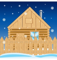 House in settle in winter vector