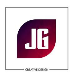 initial letter jg logo template design vector image