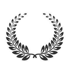 laurel wreath line art icon victory branch or vector image