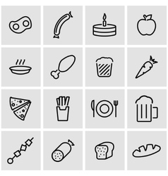 line food icon set vector image
