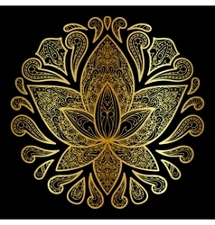 Lotus Gold Sign vector