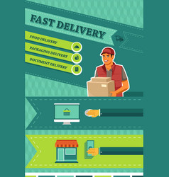 Man delivering a package vector