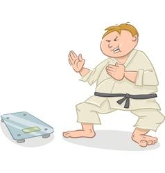 man on diet cartoon vector image