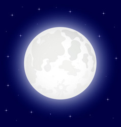 Moon with shining stars vector