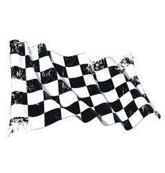 Motor race waving flag grunge vector