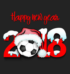 New year numbers 2018 and soccer ball vector