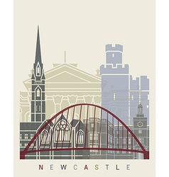 Newcastle skyline poster vector