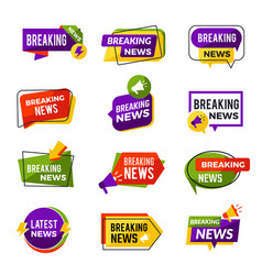 News announce daily geometric media informers for vector
