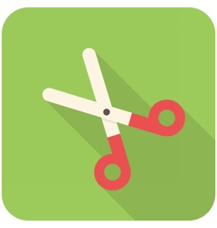 Pair of scissors icon vector image