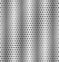 Perforated metallic background vector
