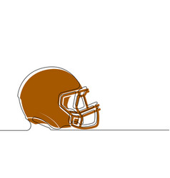 Protective helmet for american football in one vector