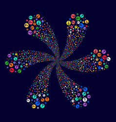 Query rotation abstract flower vector