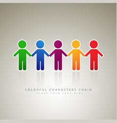 rainbow people logo company vector image