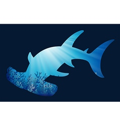 Save wildlife theme with whaleshark vector image