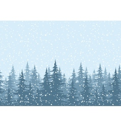 Seamless background Christmas trees with snow vector