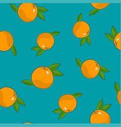 seamless pattern grapefruit on azure background vector image