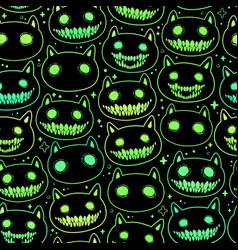 Seamless pattern head cartoon spooky animal vector