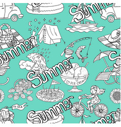 seamless pattern with summer concept vector image
