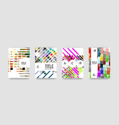 Set of brochure cover background a4 template vector