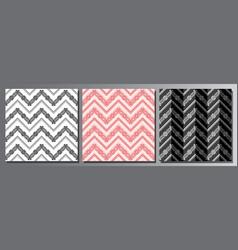 set seamless patterns vector image