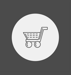 shopping cart icon sign symbol vector image