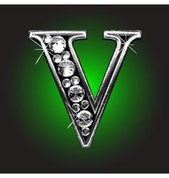Silver figure with diamonds vector