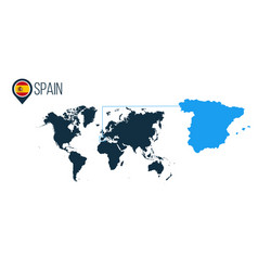 spain location modern map for infographics all vector image