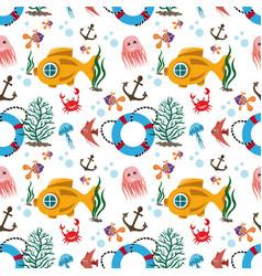 submarine pattern image vector image