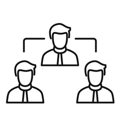 teamwork icon outline style vector image