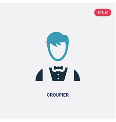 two color croupier icon from user concept vector image
