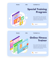 weight loss and slim body program online fitness vector image