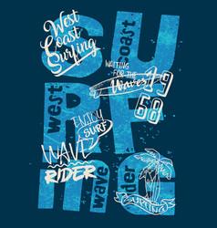 west coast wave rider surfing team vector image