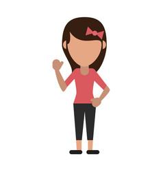 Woman faceless avatar vector