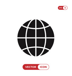 world globe icon vector image