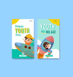 Youth day instagram template design vector