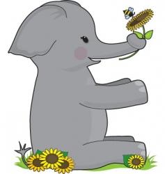 alphabet animal e vector image vector image