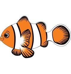 funny fish cartoon vector image vector image
