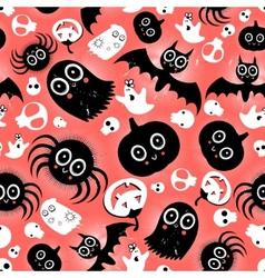 funny halloween monster pattern vector image
