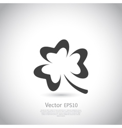 Trefoil symbol icon or logo template vector image