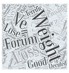 weight loss forums Word Cloud Concept vector image