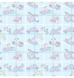 Baby Seamless Wallpaper Transportation vector image vector image