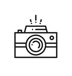 camera line icon photography logo digital camera vector image