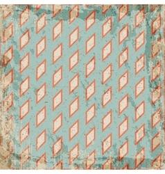 Geometric vintage grunge rhombus background vector image vector image