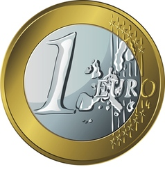 money gold coin euro vector image