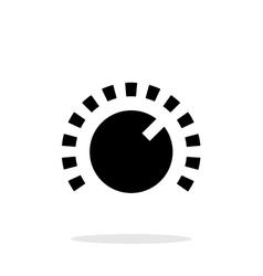 Music knob icon on white background vector image