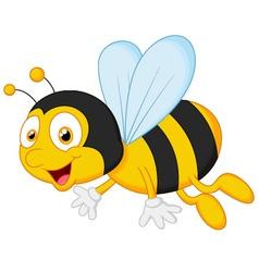 Bee cartoon flying vector image vector image