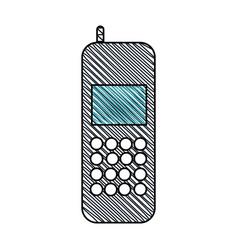 cellphone call communication gadget vector image