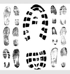 footprint traces vector image vector image