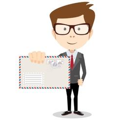 Modern postman delivered a letter to you vector image vector image