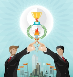 Teamwork for successful business vector image